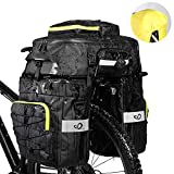 WATERFLY Fahrradtasche 3 in 1 Multifunctionwasserdichte Gepäckträgertasche Radfahren Gepäckträger Tasche Reißfest Groß Fahrrad Tasche mit...