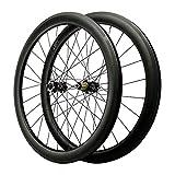 LICHUXIN Oksmsa 700C Scheibenbremse Cyclocross Rennrad Laufradsatz Kohlefaser Rad Durch Die Achse Fahrrad-Rad 7/8/9/10/11/12 Fach 1700g 24Loch (Color : Black,...