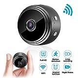 Mini Kamera, euskDE WiFi Überwachungskamera Full HD 1080P WLAN Tragbare Kleine Nanny Cam mit Bewegungserkennung und Infrarot Nachtsicht Mikro Wireless Kamera...