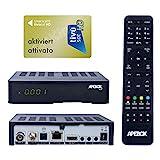 Apebox C2 4K UHD 2160p Combo Satelliten Kabel DVB-S2X & DVB-T2/C Multistream Receiver geeignet für Tivusat Mediaset IPTV Mediplayer Receiver mit AKTIVIERTE...