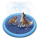 Peteast Hundepool für Große & Kleine Hunde, 150cm Sommer Outdoor Garten Hunde Wasserspielzeug, Faltbarer Planschbecken, Hundebad Pool verdickt langlebig...