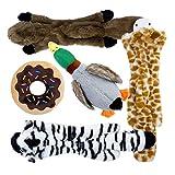 Toozey 5 Stück Quietschende Spielzeug für Hund - DREI Füllungsfreie Hundespielzeuge und Zwei Plüschtierspielzeuge mit Füllung - Sicher&Ungiftig...