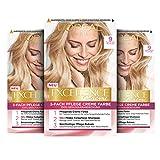 L'Oréal Paris Excellence Creme Permanente Haarfarbe, 100% Grauhaarabdeckung, Haarfärbeset mit Coloration, Shampoo und 3-fach Pflegecreme, 9 Hellblond, 3 x 268...