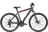 ZEG Bulls Crossbike 1 Herrenfahrrad Crossbike MTB 24 Gang 2020, Rahmenhöhe:48 cm, Farbe:grau