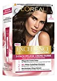 L'Oréal Paris Excellence Crème 3 Dunkelbraun 3er Pack(3 x 268 g)