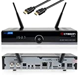 Octagon SF8008 UHD 4K Sat-Receiver inkl. Babotech® HDMI-Kabel Twin 2X DVB-S2X [HDR H.265 E2 Linux Dual WiFi] 400GB Aufnahme Speicher