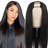 Afro Echthaar Perücke Schwarz Frauen damen Lang Perücke glatt hair U Part Half Human Hair Wigs for Black Woman Real Virgin Human Straight Wigs...