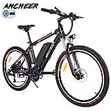 ANCHEER Elektrofahrrad Ebike Mountainbike, 26'/27.5' Elektrisches Fahrrad mit 36V 8Ah/10Ah/12Ah Lithium-Batterie und Shimano 21-Gang (26' Wanderer Schwarz rot...