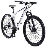 BIKESTAR Hardtail Aluminium Mountainbike Shimano 21 Gang Schaltung, Scheibenbremse 27.5 Zoll Reifen | 18 Zoll Rahmen Alu MTB | Weiß