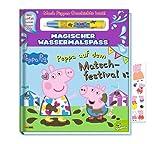 Buchspielbox Peppa Pig - Peppa auf dem Matschfestival - Magischer Wassermalspaß, Malbuch für Kinder ab 3 Jahren + Peppa Wutz - Sticker