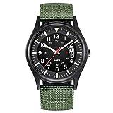 Macabolo Herren Armee Taktische Feld Sport Analog Uhren Arbeitsuhr Outdoor Casual Quarz Armbanduhr für Männer