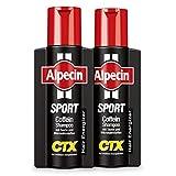 Alpecin Sport Coffein-Shampoo CTX, 2 x 250 ml - Bei sportlicher Belastung, Lädt Energie für die Haarwurzeln nach