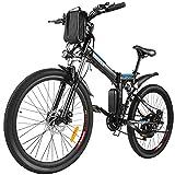 ANCHEER E-Bike/Elektrofahrrad/E-Mountainbike, 26 Zoll faltbar E-Klapprad mit doppelten Stoßdämpfung und Pedelec mit 8Ah-36V Akku für eine Reichweite von...