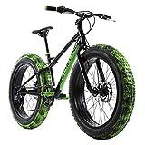 KS Cycling Mountainbike Fatbike 24'' SNW2458 schwarz-grün RH 38 cm
