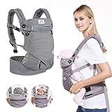 BelleStyle Babytrage - Reine Baumwolle, Atmungsaktiv, Verstellbar Ergonomische Kindertrage/Baby Rückentrage für Neugeborene & Kleinkinder von 0 bis 3 Jahren...