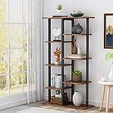 Tribesigns Bücherregal Lagerregal Standregal Industriestabiles Bücherregal mit Eisenrohrrahmen für Zuhause, Wohnzimmer, Schlafzimmer, Büro
