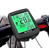 BACKTURE Fahrradcomputer, 19 Multifunktions Drahtloser Wasserdichter Fahrrad Tachometer Kilometerzähler Auto Aufwecken LCD Hintergrundbeleuchtung 5 Sprache...