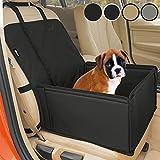 Extra Stabiler Hunde Autositz - Hochwertiger Auto Hundesitz für kleine bis mittlere Hunde - Verstärkte Wände und 3 Gurte - Wasserdichter Hundeautositz für...