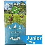 Irish Pure Junior Freiland-Huhn mit Kelp-Alge & Gemüse - Welpen Trockenfutter für wachsende Hunde, Hoher Fleischanteil, Getreidefrei, Sensitiv, Puppy,...