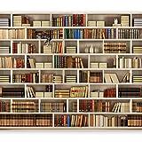 murando Fototapete Bibliothek 350x256 cm Vlies Tapeten Wandtapete XXL Moderne Wanddeko Design Wand Dekoration Wohnzimmer Schlafzimmer Büro Flur Buch Bücher...