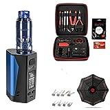 Brunhilde RTA Neue Farbe Blau   E-Zigarette Uwell Valyrian 2   XXXL Selbstwickler Set   300 W   hochwertige Verarbeitung   mit Coilmaster V3 Wickeltool - 00 mg...