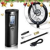 Vastar Elektrische Luftpumpe Akku Mini, 0-100PSI, 2000mAh, Akku Kompressor Luftpumpe mit LCD-Bildschirm, Kann als Taschenlampe und Powerbank, Luftkompressor...