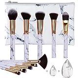 HEYMKGO Make up Pinsel Set Professionelles kabuki foundation pinselset makeup, weich und geruchsneutral, natürliche synthetische Borsten, 10 Stück + 2...