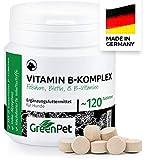 GreenPet Vitamin B Komplex für Hunde - 8 B-Vitamine, Biotin, Folsäure, Mineralstoffe, Hochdosiert für alte Hunde (Senior), Junge und Welpen, Made in Germany,...