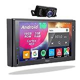 2 Din Display Radio Android - Doppel Din Autoradio mit Rückfahrkamera Navi Bluetooth Freisprecheinrichtung 7Zoll Touchscreen Bildschirm Moniceiver 2Din GPS...