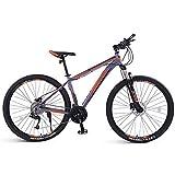 DelongKe 26/29 Zoll Mountainbike, Erwachsenen Jugend Hardtail MTB, Rahmen Aus Kohlenstoffstahl, 33 Speed, Geignet Ab 160-185 cm, V Bremse Vorne Und...
