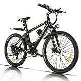 VIVI Elektrofahrrad Herren 26 Zoll Mountainbike mit 350W Motor,Abnehmbare 36V/8Ah Batterie /21-Gang-Getriebe/Höchstgeschwindigkeit 32km/h/Kilometerstand...