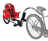 Weehoo Kinder IGO Turbo Anhänger Tagalong Bike, Rot, 4-9 Jahre