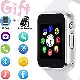Smartwatch, Touchscreen, Sport-Armbanduhr, für Android, iOS, Schrittzähler, mit SIM-Karten-Steckplatz, Kamera, kompatibel mit Samsung, für Herren und Damen...