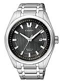 Citizen Herren Analog Quarz Uhr mit Titan Armband AW1240-57E