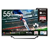 Hisense 55U7QF QLED 139 cm (55 Zoll) Fernseher (4K ULED HDR Smart TV, HDR 10+, Dolby Vision & Atmos, Full Array Local Dimming, WCG, USB-Recording, Ultra Slim...