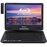 NAVISKAUTO 14' Tragbarer DVD Player Blu-ray 1920 * 1080 Full HD 1080P MP4 Portable Monitor HDMI In/Out für PC/Handy/Beamer/Fernseher/TV Stick Drehbarer...