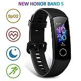 HONOR Band 5 Fitness Armband mit Pulsmesser, Wasserdicht IP68 Pulsuhren Fitness Tracker Aktivitätstracker Schrittzähler Uhr Herren- und Damensmartwatch Anruf...