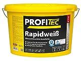 ProfiTec P118 Rapidweiß Profi Wandfarbe Innenfarbe matt hohe Deckkraft 12.5 Liter, weiß