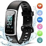 FITFORT Fitness Armband mit Pulsmesser- IP68 Wasserdicht Fitness Tracker Smartwatch, schrittzähler, Schlafüberwachung,Sitzende Erinnerung...