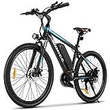 VIVI E-Bike Mountainbike, 26' Elektrofahrrad Pedelec, 350W Electric Bike mit Abnehmbarer 10,4 Ah Lithium-Ionen-Batterie, 21-Gang-Getriebe