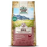 Wildes Land | Trockenfutter für Hunde | Nr. 5 Rind | 12 kg | mit Kartoffeln und Wildkräutern | Glutenfrei & Hypoallergen | Extra viel Fleisch | Alle...