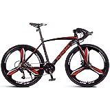 AZYQ Adult Rennrad, Herren Rennrad mit Doppelscheibenbremse, Rennrad mit hohem Kohlenstoffstahlrahmen, City Utility Bike, Weiß, 21-Gang,Schwarz,27...