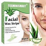 Wachsstreifen Haarentfernung, Haarentfernung für das Gesicht, Wachsstreifen Haarentfernung Set, Lippen & Augenbrauen Kaltwachs Enthaarung Streifen fürs...