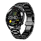 Smartwatch für Herren, Fitness Tracker Armbanduhr mit Blutdruck Sauerstoff Herzfrequenz, IP68 Wasserdicht Fitness Activity Uhr Luxus Sport Kalorienzähler für...