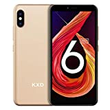 Smartphone ohne Vertrag KXD 6A Günstige 3G-Android-Smartphone 5,5-Zoll-Vollbild 8GB ROM (64GB Erweiterbar) Face ID 2500-mAh-Akku 5MP Kameras Dual SIM,...