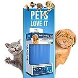 PETIC - Groß 50x90cm Kühlmatte für Hunde Katzen Haustiere | Kältematte für hunde | Selbstkühlende Hundedecke | Kühlkissen Hund Klappbare Kühldecke Matte...