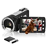 HG8162 Digitale Videokamera 1080P FHD Camcorder 24MP / 2,7' TFT LCD-Bildschirm / 270 Grad drehbarer Camcorder für...