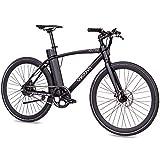 CHRISSON 28 Zoll E-Bike City Bike eOCTANT schwarz matt - Elektrofahrrad Urban Bike mit Aikema Hinterrad -Nabenmotor 250W, 36V, 40 Nm, Pedelec für Damen und...