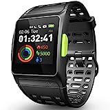 DR.VIVA GPS Smart Watch, Running Watch Herzfrequenz Monitor mit Multi-Sports Modus Farbe Touchscreen Nachricht Benachrichtigungen IP68 Wasserdicht Activity...