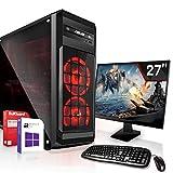 Gaming Komplett PC Set|AMD PRO A10-8770 4x3.8GHz |Marken Board|27 Zoll Monitor|Radeon HD R7 - max. 4GB - HyperMemory|256GB SSD|CD/DVD Laufwerk|Windows 10...